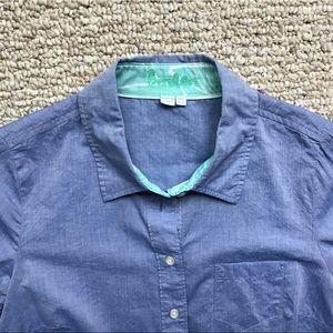 Boden Sz4 Chambray Button Down Shirt CLASSIC!